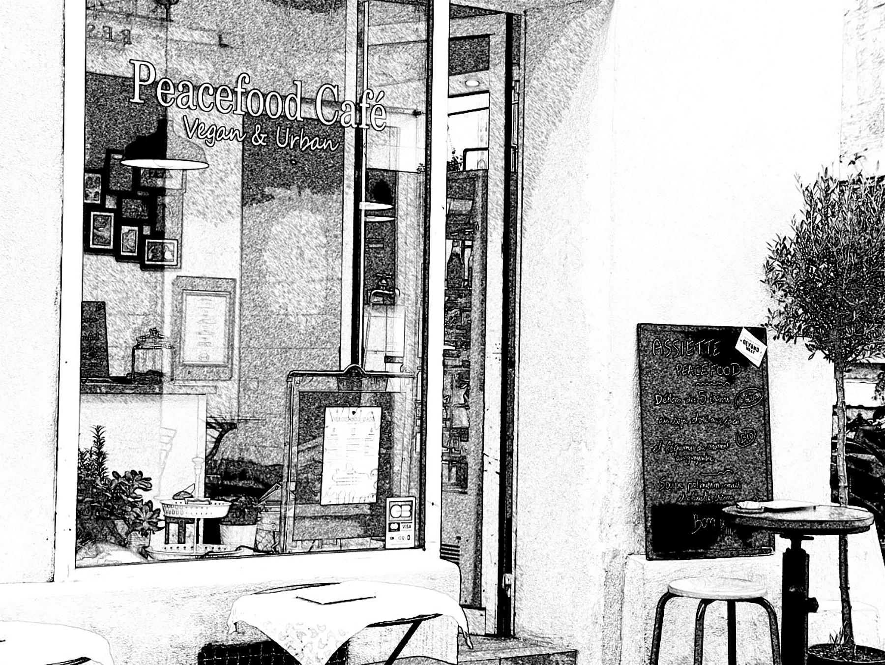 Peacefood café devanture